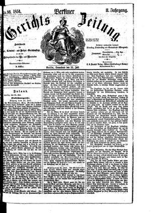 Berliner Gerichts-Zeitung vom 22.07.1854