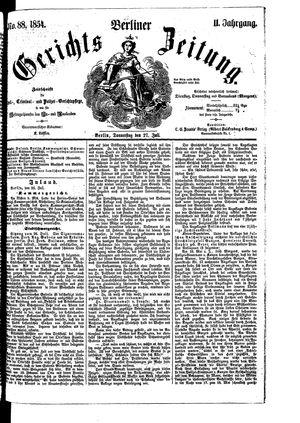 Berliner Gerichts-Zeitung vom 27.07.1854