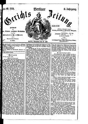 Berliner Gerichts-Zeitung vom 29.07.1854
