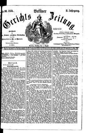 Berliner Gerichts-Zeitung on Aug 1, 1854