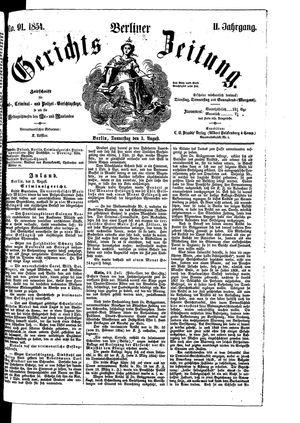 Berliner Gerichts-Zeitung vom 03.08.1854