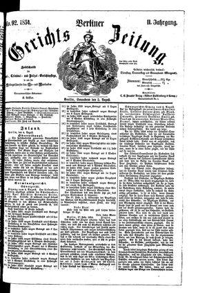 Berliner Gerichts-Zeitung vom 05.08.1854