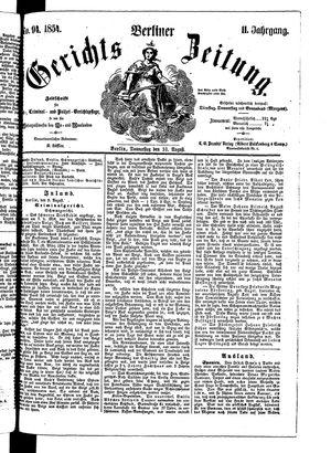 Berliner Gerichts-Zeitung vom 10.08.1854