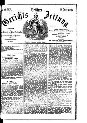 Berliner Gerichts-Zeitung vom 12.08.1854