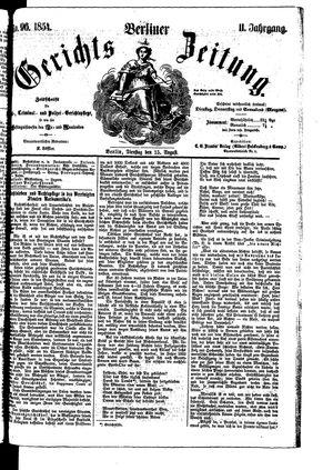 Berliner Gerichts-Zeitung vom 15.08.1854