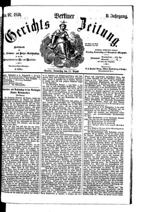 Berliner Gerichts-Zeitung vom 17.08.1854