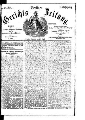 Berliner Gerichts-Zeitung vom 19.08.1854