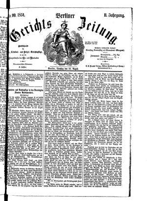 Berliner Gerichts-Zeitung on Aug 22, 1854