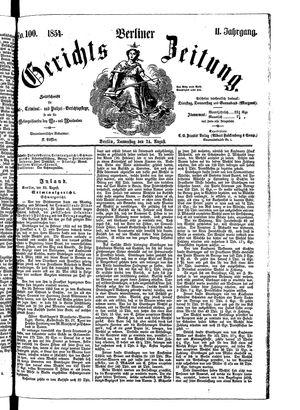 Berliner Gerichts-Zeitung vom 24.08.1854