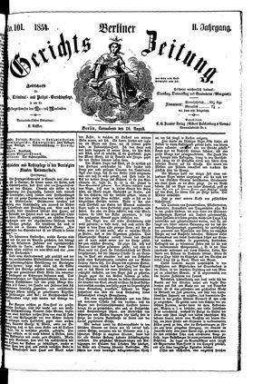 Berliner Gerichts-Zeitung vom 26.08.1854