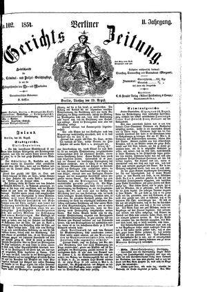Berliner Gerichts-Zeitung on Aug 29, 1854