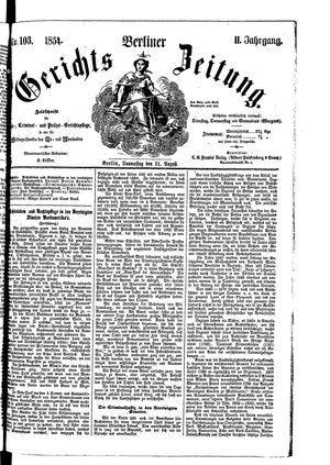 Berliner Gerichts-Zeitung vom 31.08.1854