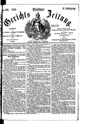 Berliner Gerichts-Zeitung vom 05.09.1854