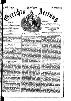 Berliner Gerichts-Zeitung vom 07.09.1854