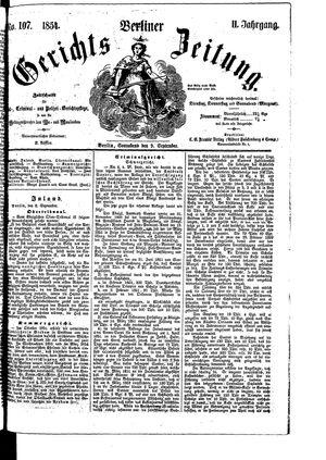Berliner Gerichts-Zeitung on Sep 9, 1854
