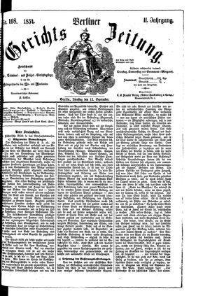 Berliner Gerichts-Zeitung vom 12.09.1854