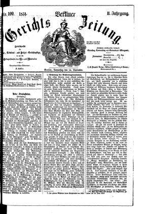 Berliner Gerichts-Zeitung vom 14.09.1854