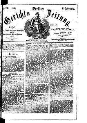 Berliner Gerichts-Zeitung vom 16.09.1854