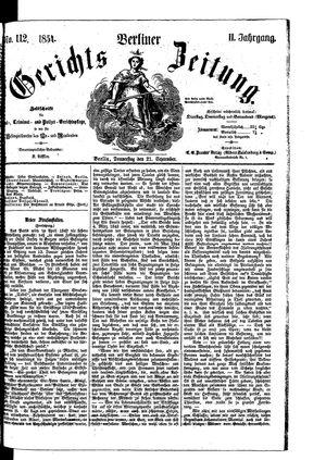 Berliner Gerichts-Zeitung vom 21.09.1854