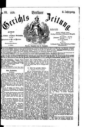 Berliner Gerichts-Zeitung vom 23.09.1854