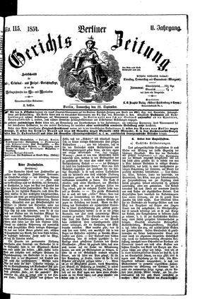 Berliner Gerichts-Zeitung vom 28.09.1854