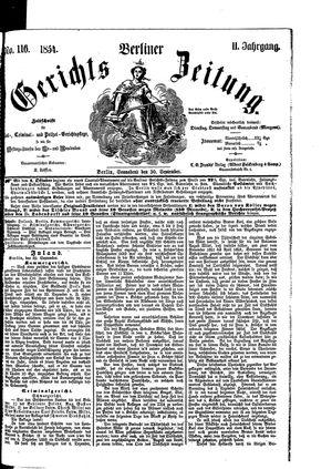 Berliner Gerichts-Zeitung vom 30.09.1854
