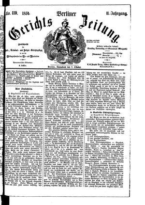 Berliner Gerichts-Zeitung vom 07.10.1854