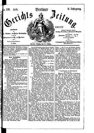 Berliner Gerichts-Zeitung on Oct 10, 1854