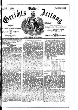 Berliner Gerichts-Zeitung vom 12.10.1854
