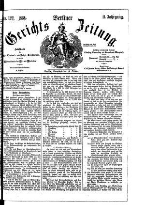 Berliner Gerichts-Zeitung vom 14.10.1854