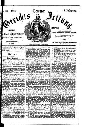 Berliner Gerichts-Zeitung vom 17.10.1854