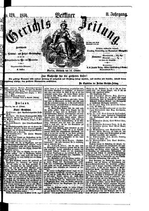 Berliner Gerichts-Zeitung vom 18.10.1854