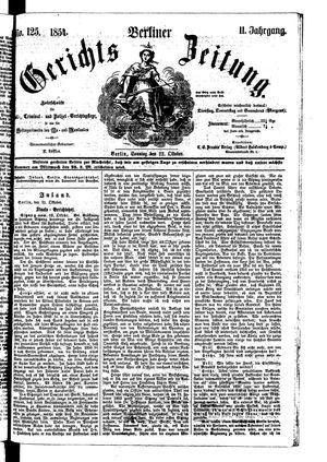Berliner Gerichts-Zeitung vom 22.10.1854
