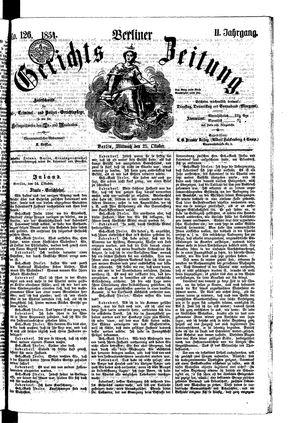 Berliner Gerichts-Zeitung vom 25.10.1854