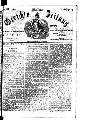 Berliner Gerichts-Zeitung vom 28.10.1854