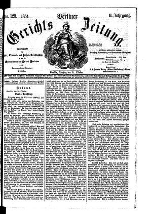 Berliner Gerichts-Zeitung vom 31.10.1854