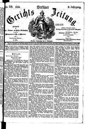 Berliner Gerichts-Zeitung on Nov 2, 1854