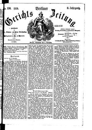 Berliner Gerichts-Zeitung on Nov 4, 1854