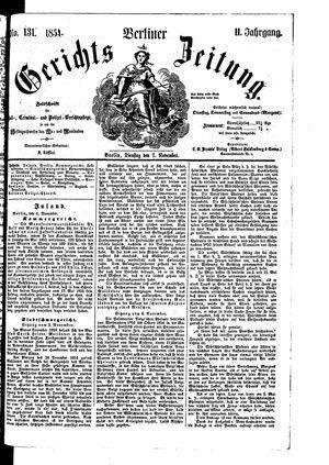 Berliner Gerichts-Zeitung vom 07.11.1854