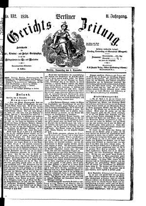 Berliner Gerichts-Zeitung vom 09.11.1854