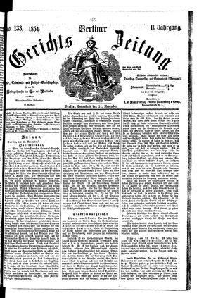 Berliner Gerichts-Zeitung vom 11.11.1854
