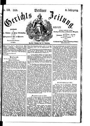 Berliner Gerichts-Zeitung vom 14.11.1854