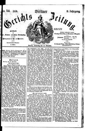 Berliner Gerichts-Zeitung vom 16.11.1854