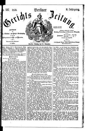 Berliner Gerichts-Zeitung vom 21.11.1854