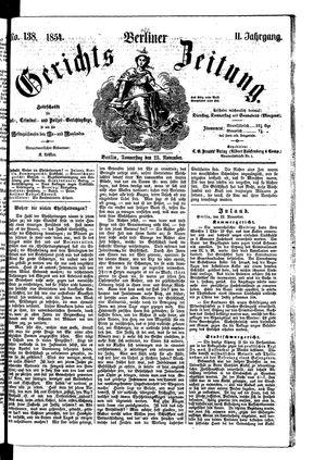 Berliner Gerichts-Zeitung vom 23.11.1854