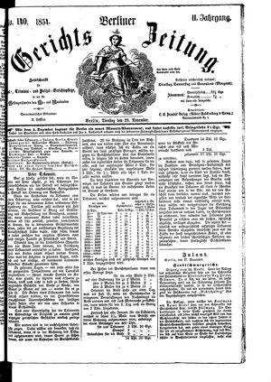 Berliner Gerichts-Zeitung vom 28.11.1854