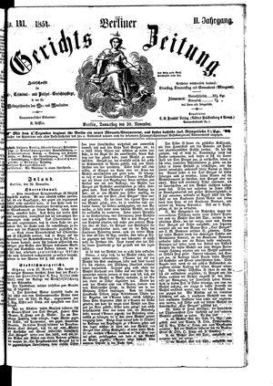 Berliner Gerichts-Zeitung vom 30.11.1854