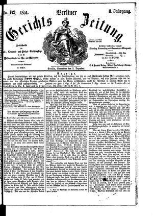 Berliner Gerichts-Zeitung vom 02.12.1854