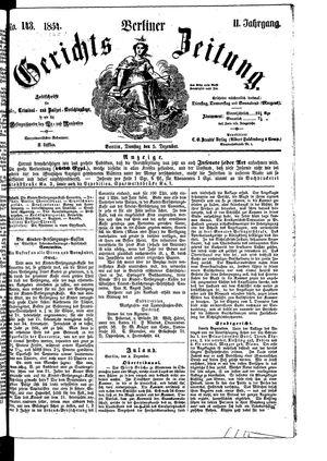 Berliner Gerichts-Zeitung vom 05.12.1854