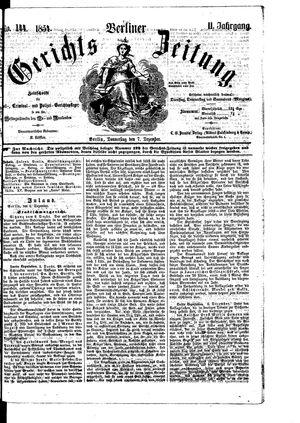 Berliner Gerichts-Zeitung on Dec 7, 1854